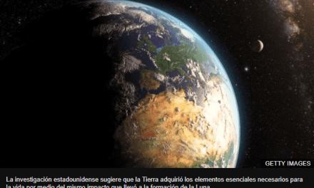 La megacolisión planetaria que pudo haber formado la Luna y hecho posible la vida en la Tierra