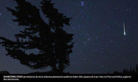 Un meteoro 2014 puede haber venido de otro sistema solar