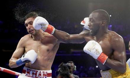 Crawford vence a Khan por nocaut