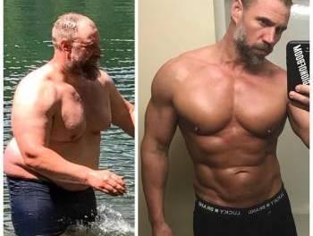 Un padre perdió 92 libras porque no podía mantener el ritmo de sus niños