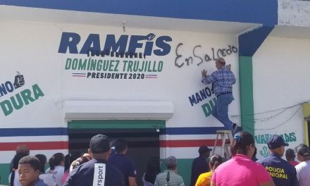 Grupo de Luis Ramfis Dominguez Trujillo tilda de agresión pintaran su local en Salcedo