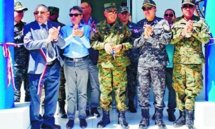 Defensa construye un destacamento policial en Monción