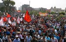 Marcha de la CGTP en Lima