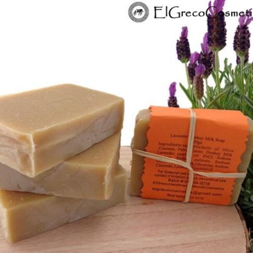 lavender donkey milk soap back