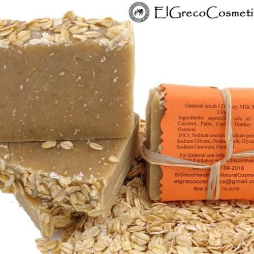 oatmeal scrub donkey milk soap back