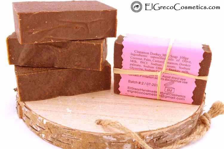cinnamon donkey milk soap back-01