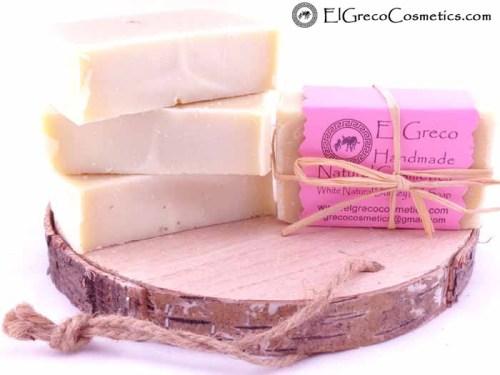 White Natural Donkey milk soap