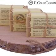 3 pack oatmeal scrub donkey milk soap back
