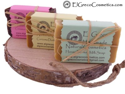 Trio pack Cinnamon Curcuma Honey Donkey milk Soap