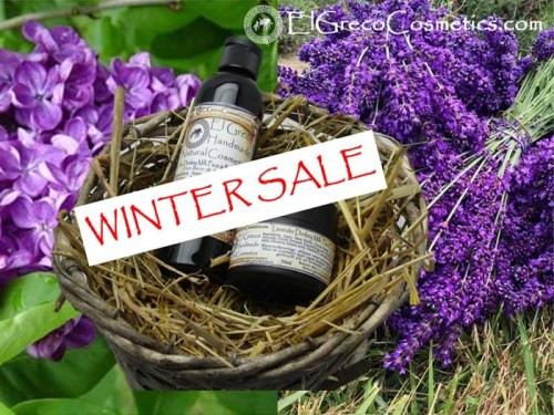 Winter sale facial and body care