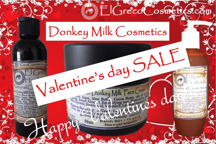 Donkey milk cosmetics the perfect Valentines Day gift