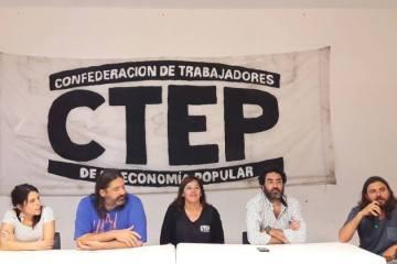 Rafael Klejzer, Juan Grabois y Jacquelina Flores