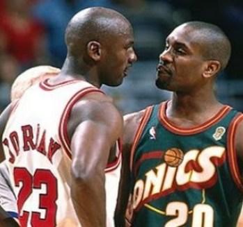 Michael Jordan y Gary Payton