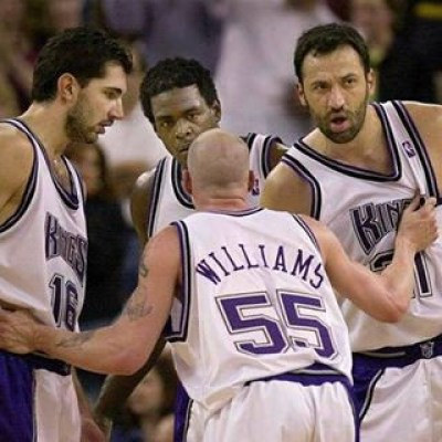 Jason Williams, Chris Webber, Vlade Divac o Pedja Stojakovic