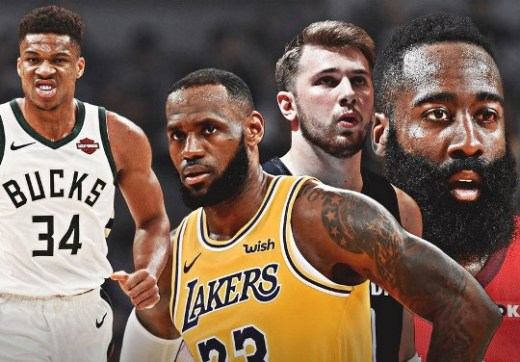 Doncic,Anteto,Curry y Lebron