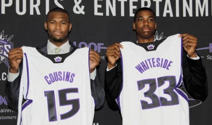 DeMarcus Cousins y Hassan Whiteside