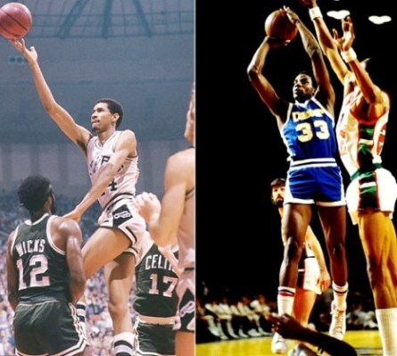 George Gervin y David Thompson 1
