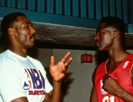Karl Malone y Dominique Wilkins