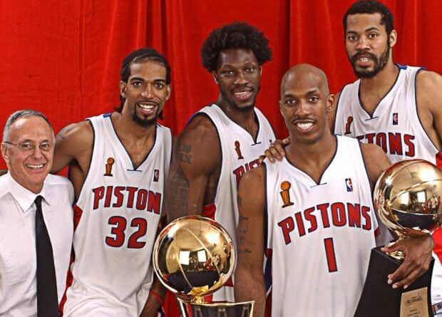 Los Detroit Pistons de Billups, Wallace y Hamilton