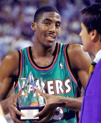 Eddie Jones con el Rising Stars de 1995