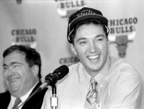 Toni Kukoc y Jerry Krause