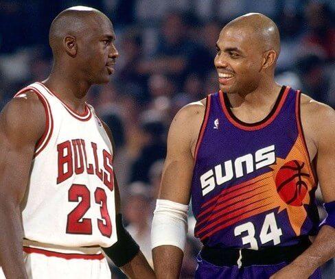 Michael Jordan y Charles Barkley