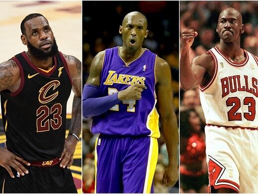 Lebron, Jordan y Kobe