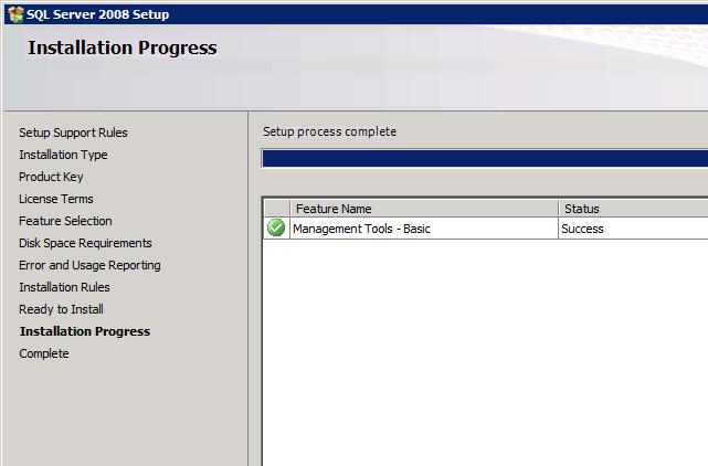 How to Install SQL Server 2008 Management Studio Express for TFS basic (1/6)