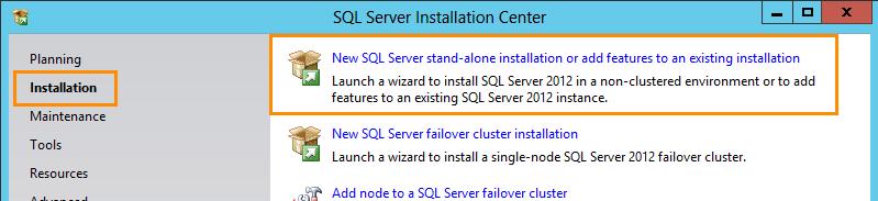 SQL Server 2012 Installation for Team Foundation Server (1/6)