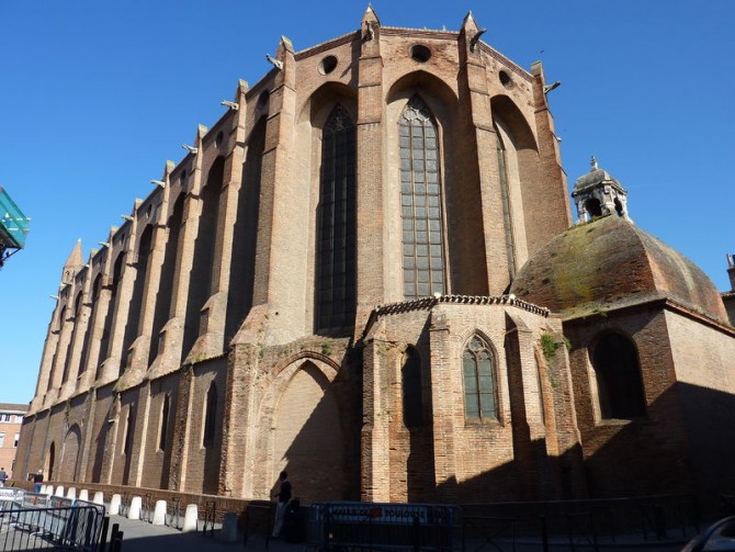 Toulouse_Eglise_des_Jacobins_vue_extérieure foto Henri Moreau