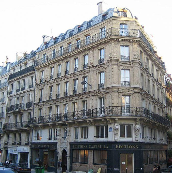 Rue Monge Les trois niveaux de la façade haussmannienne classique - Photo Thierry Bézecourt