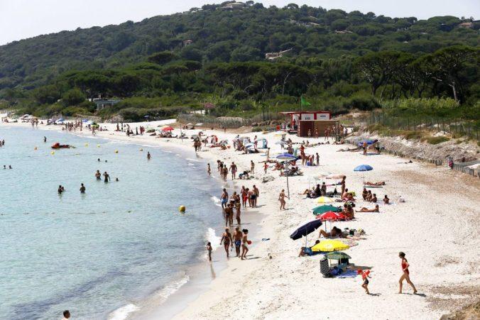 SAINT-TROPEZ, le 06/08/2013, plage des salins