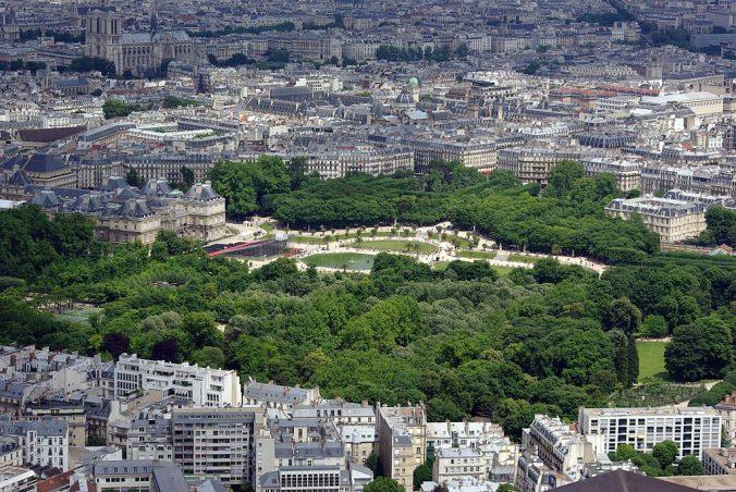 Jardins du Luxembourg vus depuis la tour Montparnasse-photo-kirua