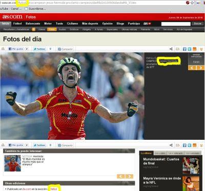 Foto: CAMPEÓN. Jesús Hermida se proclamó campeón del mundo de BTT - AS.com