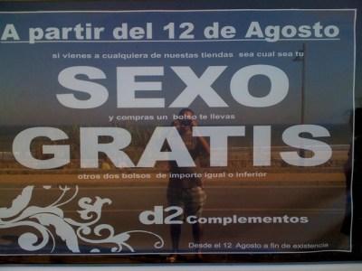 «A partir del 12 de agosto sexo gratis»