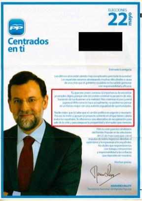 Carta de Rajoy a los jóvenes
