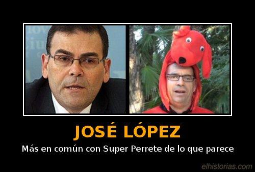 José López. Más en común con Super Perrete de lo que parece.