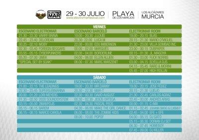 Horarios Electromar Festival 2011