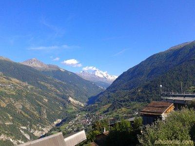 Valle de Hérens desde Hérémence. Valais.