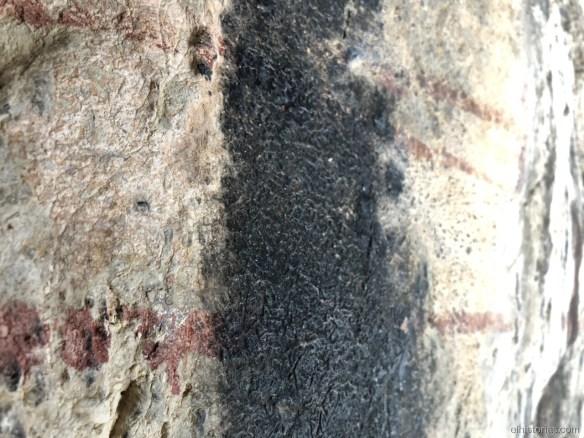 Trazos en el interior de la cueva