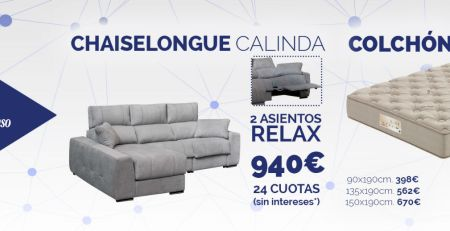 Chaiselongue relax y colchón Flex