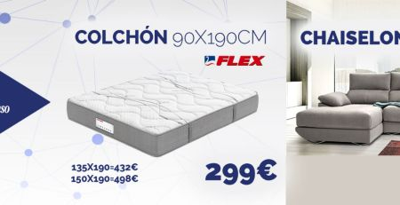 Colchón Flex y chaiselongue