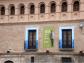 Publicitando la exposición sobre José Luis Sampedro y su legado en la Casa Palacio. Foto Blog ElpaisQueNoSeAcaba