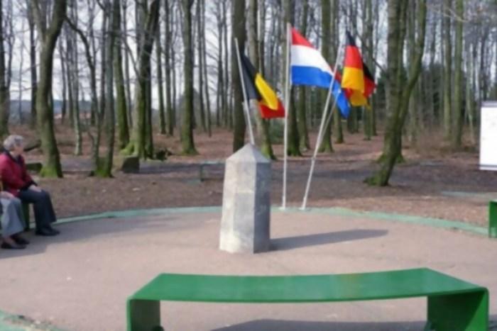 Punto donde se unen las tres naciones europeas, cerca de la ciudad de Aachen.