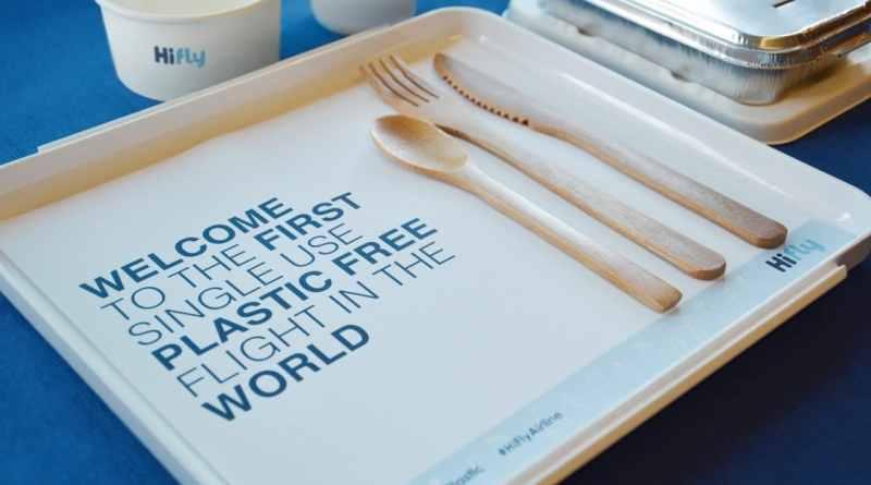 , Primer vuelo libre de plástico desechable de Portugal a Brasil