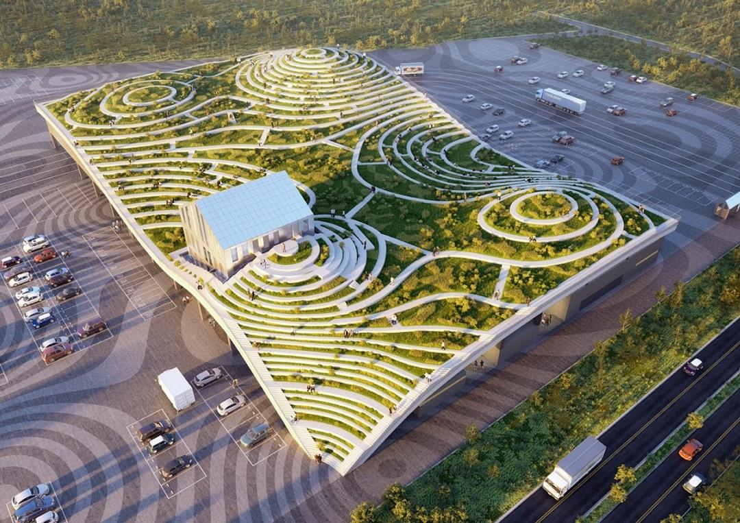 Mercado en Taiwán va a producir alimentos en un extenso techo verde