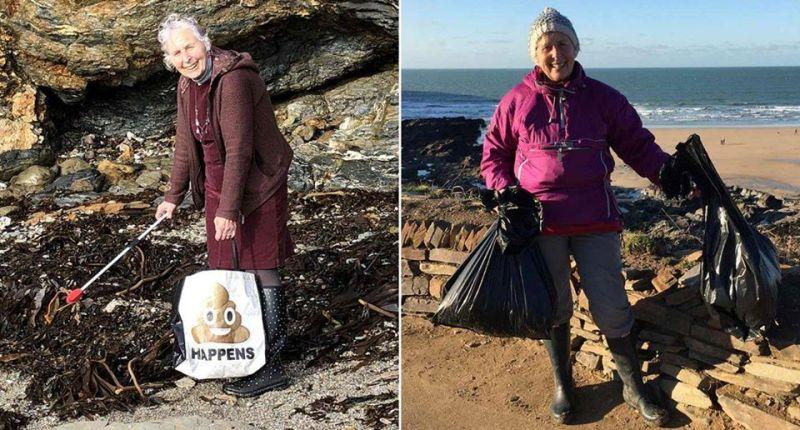 Pat Smith, con 70 años limpió 52 playas en un año, demostrando que nunca es demasiado tarde para comenzar a cuidar nuestro planeta