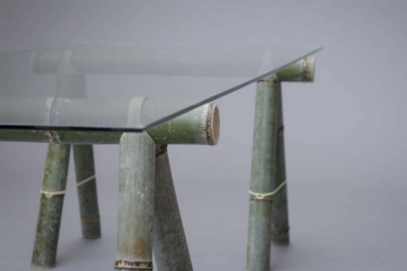 Estos muebles de bambú se pueden ensamblar sin necesidad de usar herramientas.