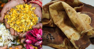 Startup india fabrica cuero vegano a partir de flores desechadas en los templos