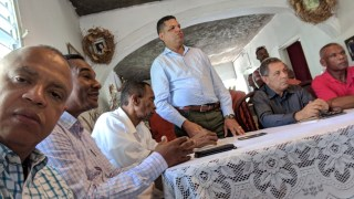 Dirigentes del PHD en recorrido por Sanchez, Nagua y el Factor.